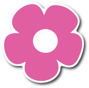 Pink Flower Magnet 5 inch Decal Great for Car Truck SUV or Fridge