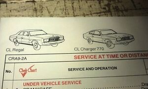 1976-1977-CHRYSLER-VALIANT-VK-CK-CL-6-Golden-Fleece-Lube-Chart-CHARGER