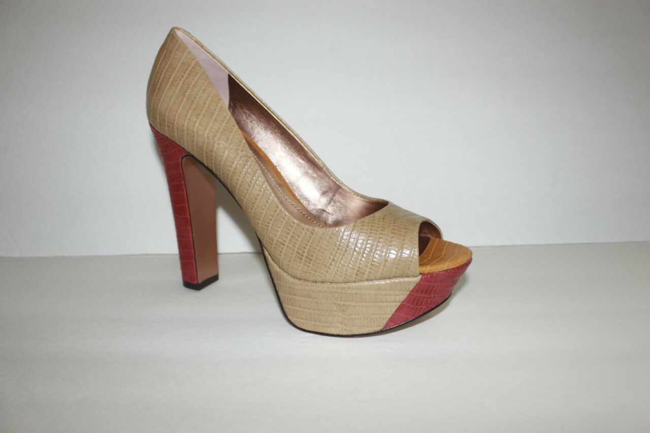 Bcbgeneration Mujer Tamaño del zapato 8.5 M Beige Marrón Marrón Marrón Tacón Alto Bomba De Plataforma Nuevas En Caja  buscando agente de ventas