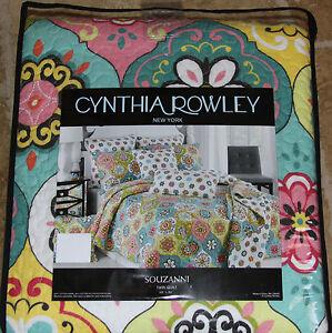 Cynthia Rowley New York Souzanni TWIN Medallion Quilt Reversible ... : cynthia rowley new york quilt - Adamdwight.com