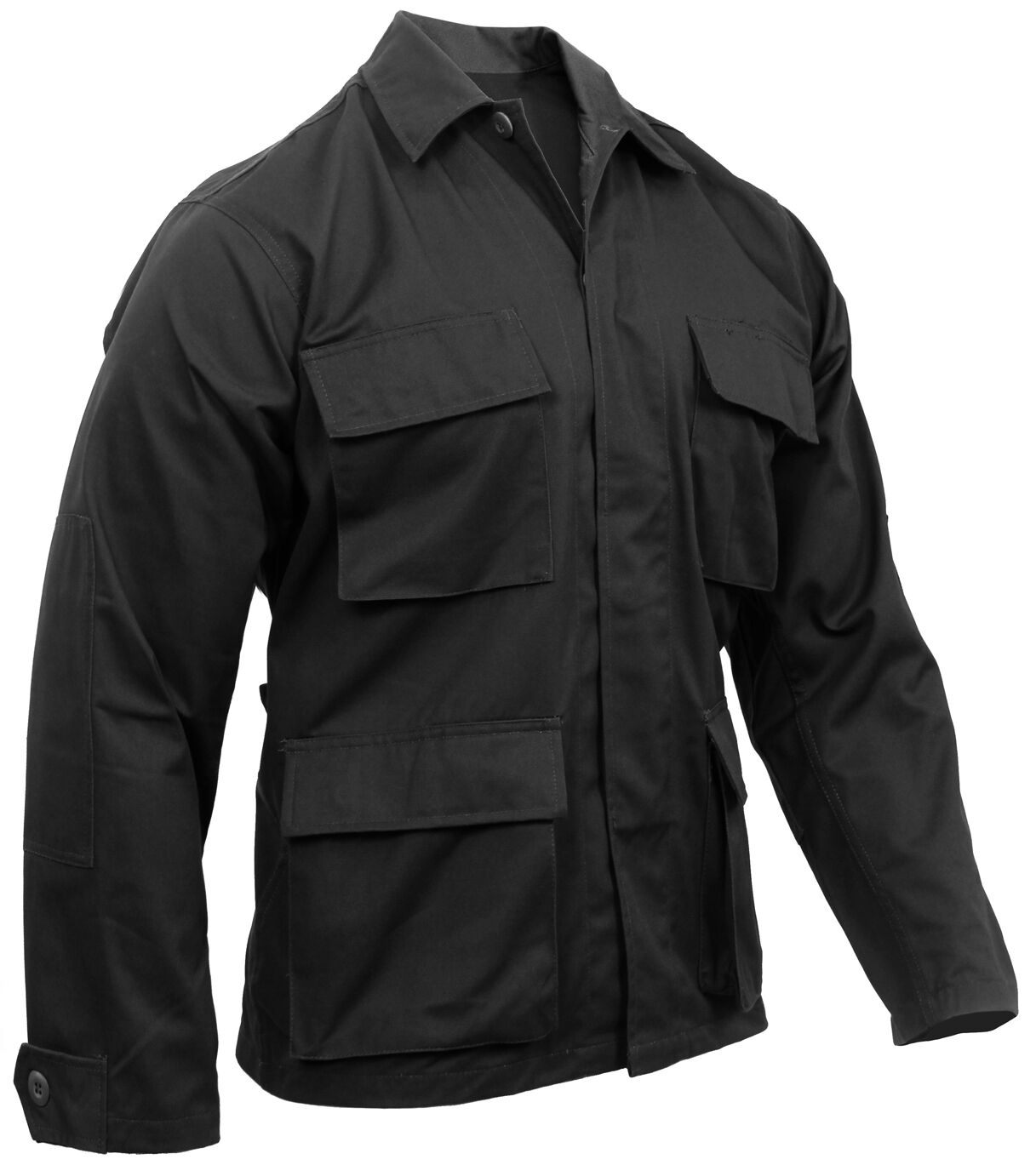 Schwarz Bdu Hemd Mantel Militär Stil 4 Tasche Mantel Rothco 7970   | Elegant und feierlich  | Ruf zuerst  | Moderne und stilvolle Mode