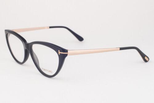 Tom Ford 5354 001 Shiny Black Gold Eyeglasses TF5354 001 53mm