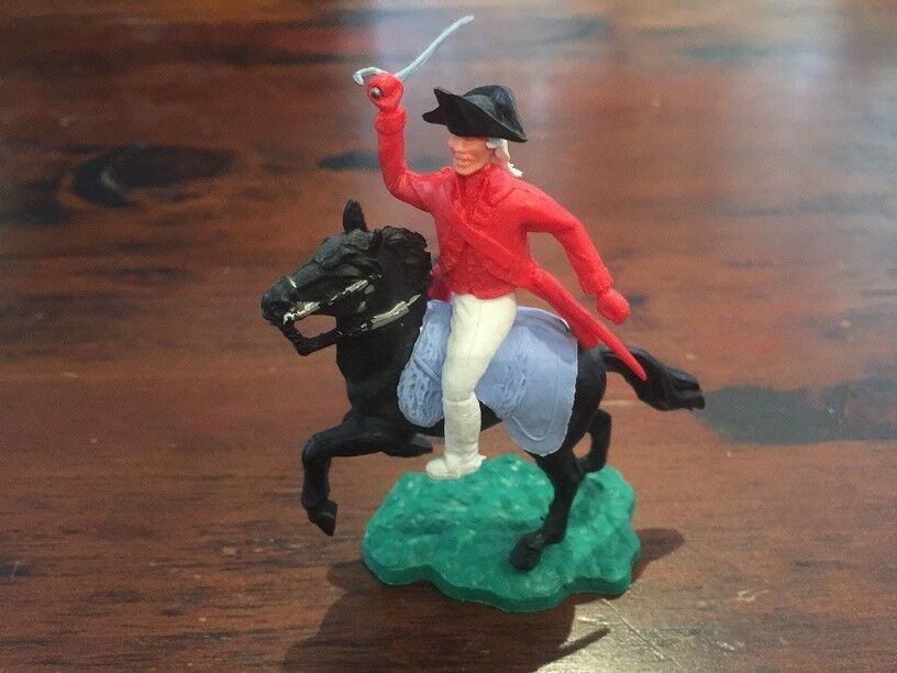 Timpo AWI British  Redcoat Cavalry Officer - Rare Light bluee  woolly  saddle