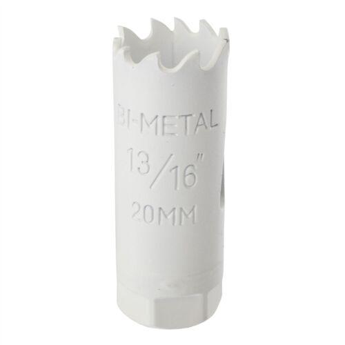 20 mm HSS Trou Scie Bi-Métal Lame de cutter Perceuse coupe Acier//Fer etc.