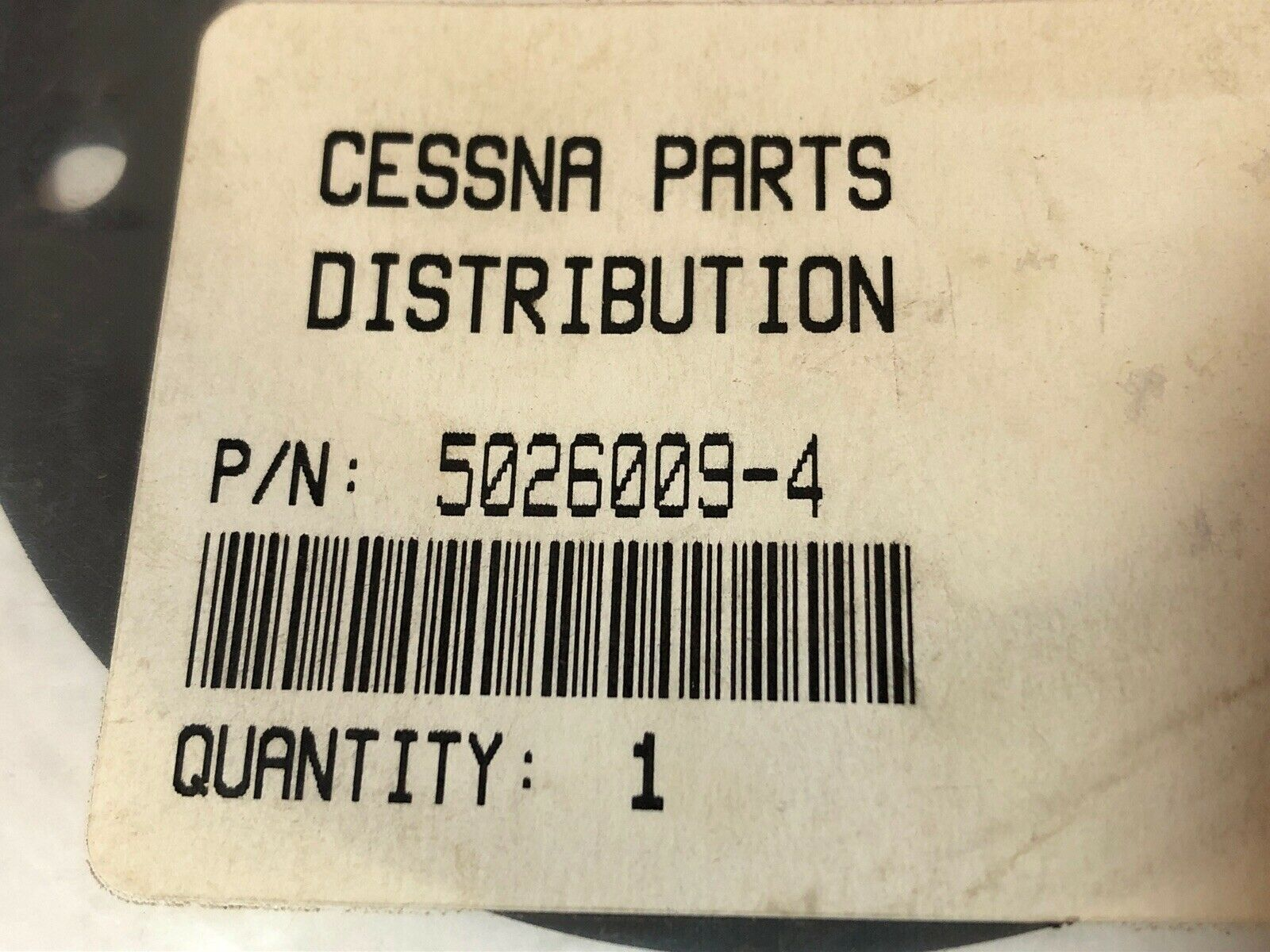 5026009-4 Gasket with 8130-3 Tag New Cessna Part No