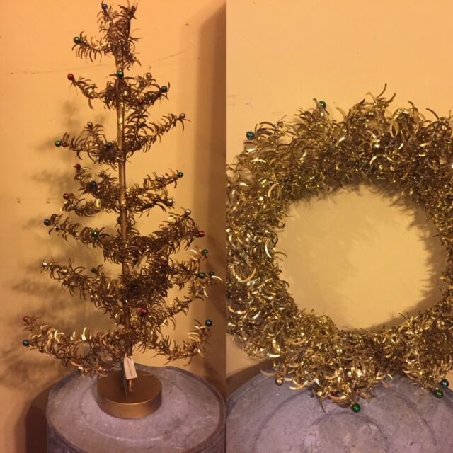 Does Lowes Sell Christmas Trees: New Bethany Lowe Holiday Foil Wreath Tree Set Primitive