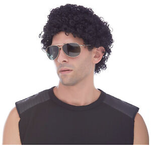 ADULT 70S 80S DISCO TIGHT CURLS SMALL AFRO COSTUME WIG JERRY JHERI CURL MALE
