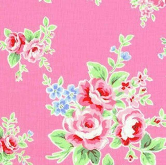Cottage Shabby Chic Lecien Flower Sugar Floral Fabric 30841L-20 Pink BTY