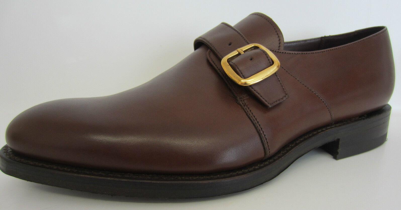 Loake uomo FLOTTA marrone chiusura scuro in pelle scarpe chiusura marrone a FIBBIA 46172e