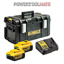 Dewalt 2 x DCB182 4.0Ah Batteries, DCB115 Charger and DS300 Toughsystem Case Kit