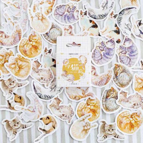 45pcs lovely cats paper sticker diy diary decor for album scrapbooking GNCA