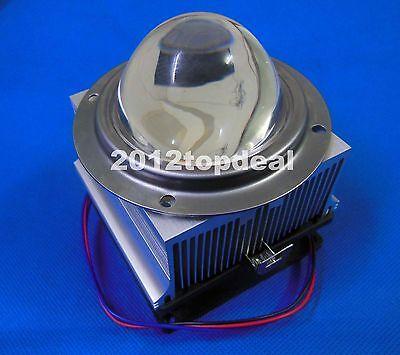 20-100W LED Aluminium HeatSink Cooling Fan+66mm Lens+Silicone Ring+pressure ring