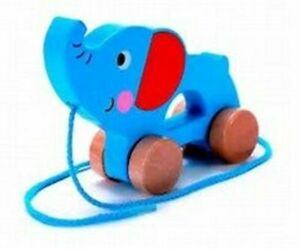 Premium-Wooden-Toy-Pull-Along-Elephant-Age-18-Months
