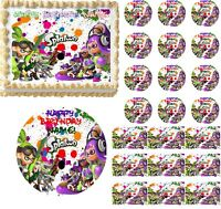 SPLATOON Paintball Fight Edible Cake Topper Image Frosting Sheet Cake Decoration