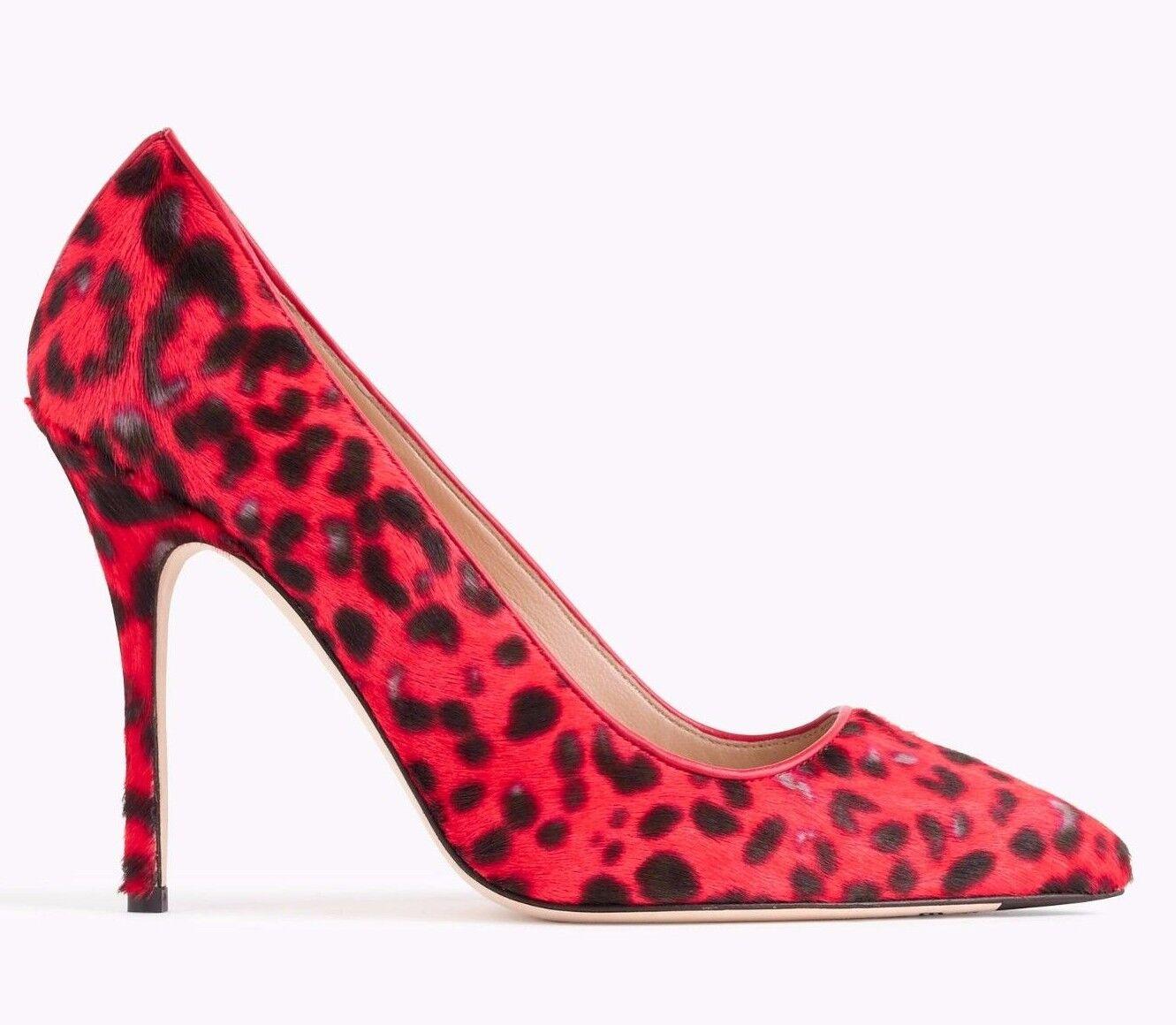 Jcrew Colección Roxie calfhair Rojo Leopardo Zapatos Bombas Tacones Talla Talla Talla 7  465 Italia  el estilo clásico