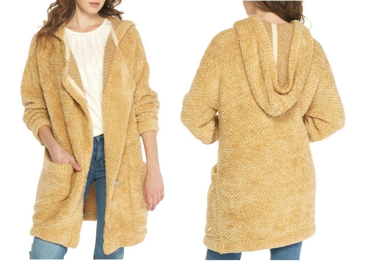 FREE PEOPLE Warm Wishes daMänner Lange Sleeve Cardigan Sweater Jacket Mantel Outwear