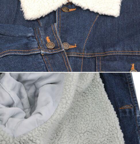 Men's Classic Button Up Sherpa Fleece Lined Cotton Denim Trucker Jean Jacket