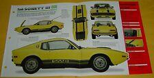 1971 Saab Sonett 3 III V4 1699cc Single Autolite Carb IMP Info/Specs/photo 15x9