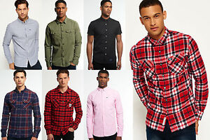 New-Mens-Superdry-Shirts-Various-Styles-amp-Colours