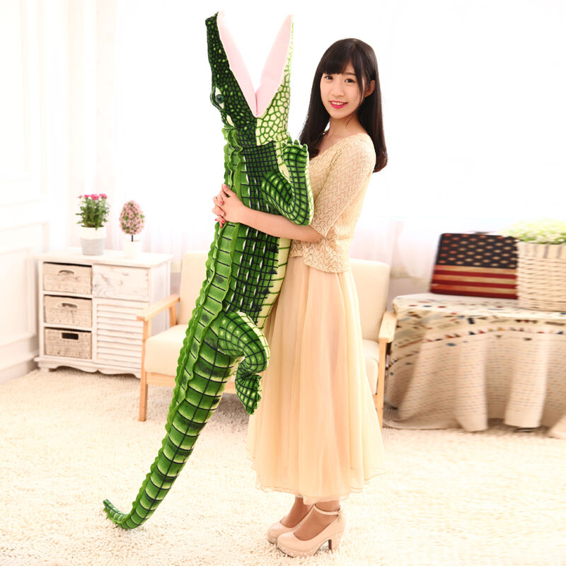 200Cm Huge Huge Large Big Emulational Crocodile Plush& Soft Toy Stuffed Animal 79