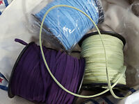 100 Yards Faux Suede Cord 3mm Purple Blue Green Jewelry Diy Vegan Leather Cord