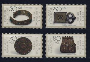 BUND-1333-1336-postfrisch-WOFA-1987-Gold-und-Silber-Schmiedekunst