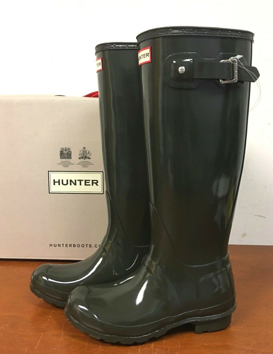 NEW Hunter Original Tall Rain Boots, SIZE 6 - Dark Olive - 8N_31