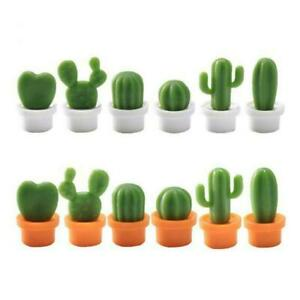 6Pcs-Cute-Refrigerator-Magnet-Cactus-Potted-Fridge-Home-Magnet-Kitchen-L6S9