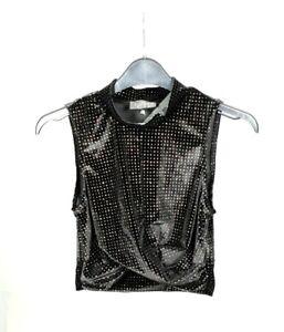 TOPSHOP-top-Petites-Patterned-crop-top-Womens-shimmer-Vest-Top-blouse-RRP-22