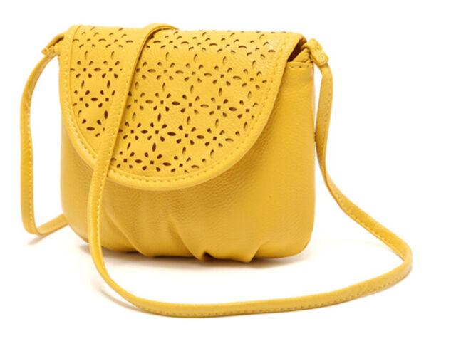 Women Girls Leather Satchel Shoulder Bag Cross Body Messenger Tote Handbag 0518