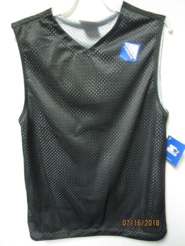 10//12 Starter SET//2 Black//Gray /& Blue//Navy Reversible V-Neck Muscle Tee Size L