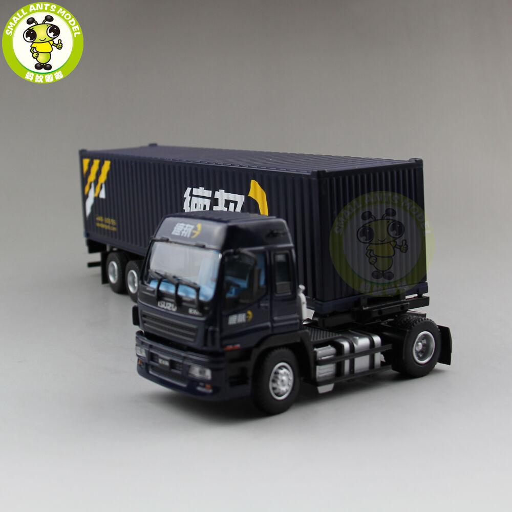 1 50 Isuzu conteneur camion remorque Diecast Voiture  Modèle Collection Cadeau deppon Bleu  bas prix