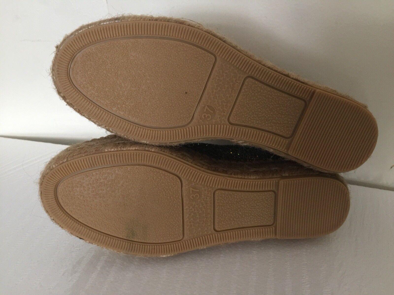 NEW The scarpe Box Glitter Platform Espadrilles Sz 37 6.5 6.5 6.5 Rainbow rosa scarpe da ginnastica 49d43d