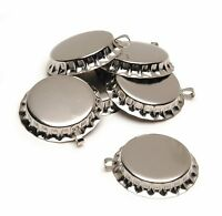 Darice Ssr-522vp 50-piece Chrome Bottle Caps With Loop, 1-inch , New, Free Shipp on Sale