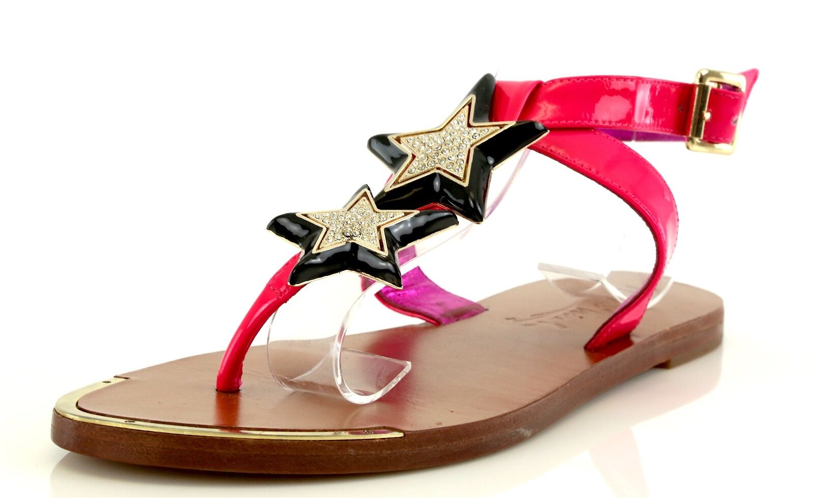Miss.Trish MYSTARS rose Ankle Strap Sandals 7128 Taille 9 M NEW