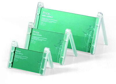 10x Edles Tisch-Namensschild  Display Tischaufsteller glasklar Werbeschild Acryl