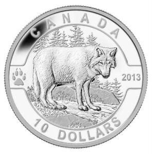 Wolf - 2013 O Canada Series $10 Fine Silver