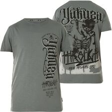 YAKUZA Never Stop Label T-Shirt TSB-14060 Monument Grau T-Shirts