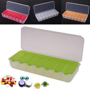 Pillendose 2 Massive Medikamentenbox 7 Tage Tablettenbox Pillenbox·Tablettendose