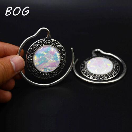 Puj Ju Sythetic Opal Ear Weights Piercing Charming Earring Tunnel Plug Gauges