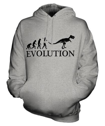T-REX EVOLUTION OF MAN UNISEX HOODIE MENS WOMENS LADIES GIFT COSTUME