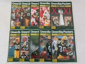 Lot-of-10-GREEN-BAY-PACKERS-YEARBOOKS-1993-2002