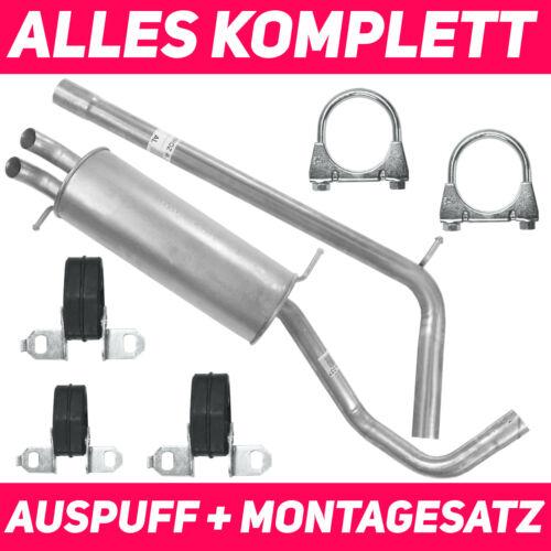 1.4 TDI|1.9 TDI AMF Schalldämpferset für Volkswagen Polo IV 4 9N 11//01-12//09