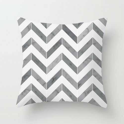 Black/&White Geometric Throw Cover Pillow Cushion Square Case Decor Nordic Styles