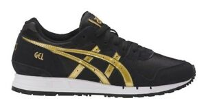 SCARPE-ASICS-ONITSUKA-TIGER-GEL-MOVIMENTUM-DONNA-H7X7L-NERO-ORO-SHOES-BLACK-GOLD