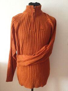 Fit Homme GrOrangeL Signum Vintage Coton Crew Unie Couleur Pullover De2YWHIE9