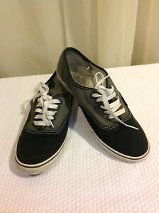 99b9df076431d7 VANS Authentic 2 Tone Men Size 7 Shoes Black Gray Canvas Sneakers ...