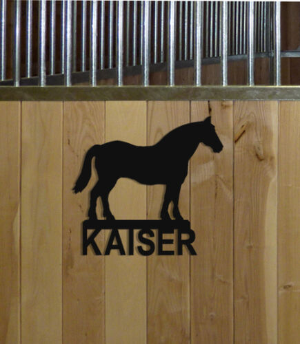 STABLE SIGNS DRAFT HORSE STALL SIGN EQUESTRIAN
