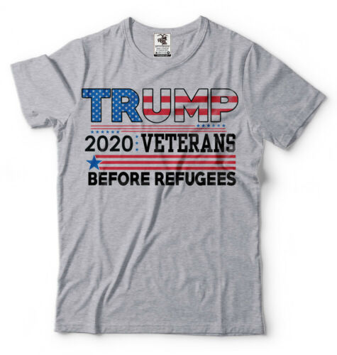Veterans For Trump 2020 T-shirt Veterans Before Refugees Trump Republican shirt