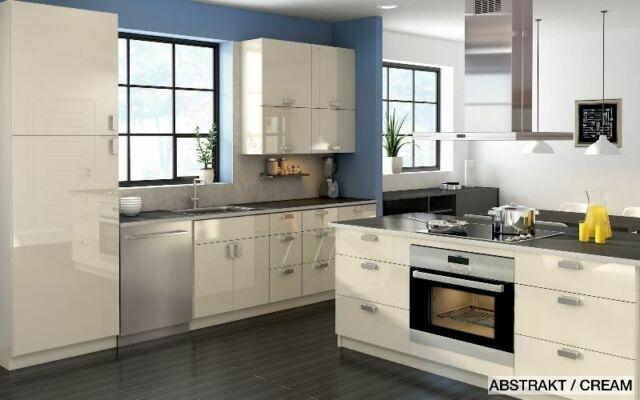 Ikea Abstrakt 3 High Gloss Cream Drawer Fronts 30 Kitchen Cabinet Front Set For Sale Online Ebay